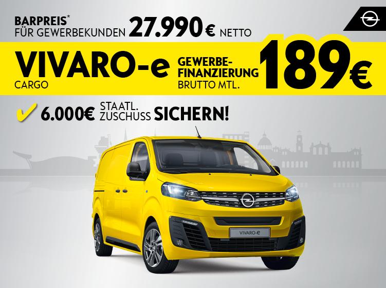 Der Opel Vivaro-e